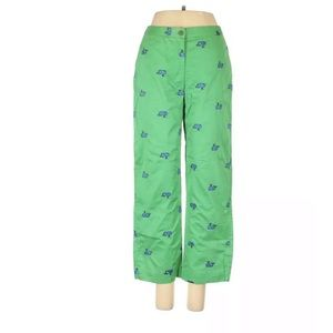 Lily Pulitzer 4 Whale cropped high rise plants